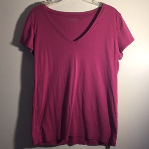 Pink V neck tee shirt